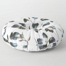 Blue Watercolor Wildflowers Floor Pillow