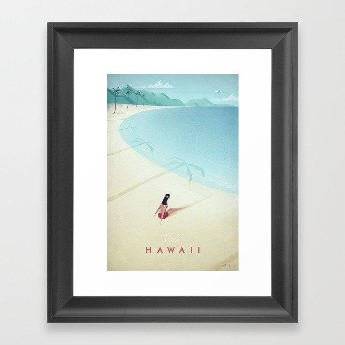 Hawaii Gerahmter Kunstdruck