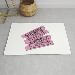 Cinema Tickets Rug