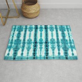 Turquoise Tiki Shibori Rug
