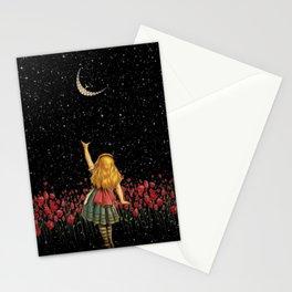 Wonderland Smiling Starry Night - Alice In Wonderland Stationery Cards