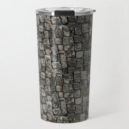 Ancient Stone Wall Pattern Travel Mug