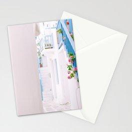 Street in Mykonos Stationery Cards