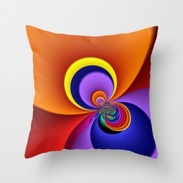 time for fractals -5- curtain Throw Pillow