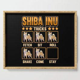 Dog Shiba Inu Owner Funny Tricks Gift Serving Tray