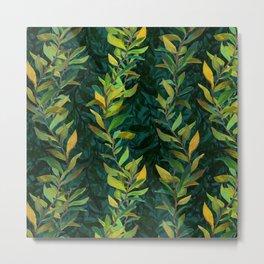 Pond Seaweed Pattern by Robert Phelps Metal Print