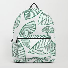 Modern abstract green glitter foliage floral Backpack
