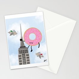 Attack of the Giant Donut Stationery Cards