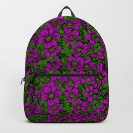 Pink Clematis vine Backpack
