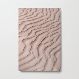 Sandy beach in Mexico | Tropical pattern Metal Print