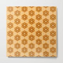 Tangerine Pattern Design Metal Print