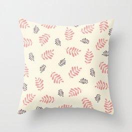 Falling Leaves – Pink & Brown Throw Pillow