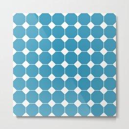 Royal Blue Octagon Shape pattern Metal Print