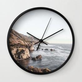 Big Sur | Monterey California Surfers Paradise Ocean Beach Landscape Wanderlust Photograph Wall Clock