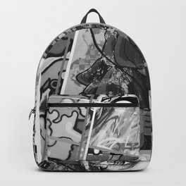 Crazy Graffiti - Black and White Abstract Comic Strip Street Pop Art Backpack