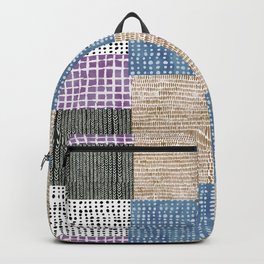 Primavera Mixed Pattern Backpack