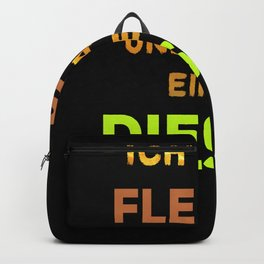 Car Diesel driver ban funny slogan nodriving Backpack