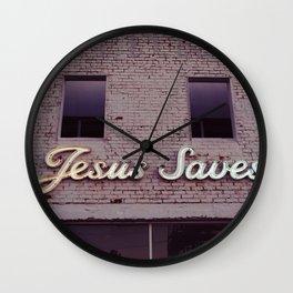 Jesus Saves III Wall Clock