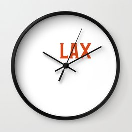 Funny ReLAX Bro Funny Lacrosse Pun Player & Coach Wall Clock