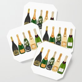 Champagne Bottles Coaster
