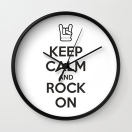 Keep Calm and Rock On Wall Clock