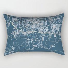 Astana Blueprint Street Map, Astana Colour Map Prints Rectangular Pillow