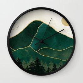 Mt Hood Emerald Mountain Abstract Wall Clock