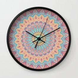 Jewel Mandala Faded - Mandala Design Wall Clock