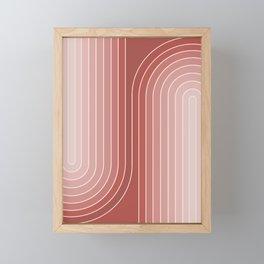 Gradient Curvature VI Framed Mini Art Print