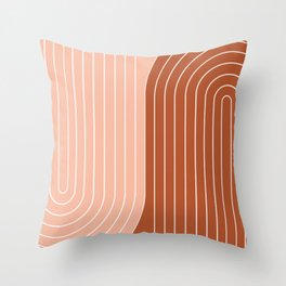 Two Tone Line Curvature XXIX Throw Pillow