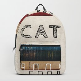 Books and cats design Backpack
