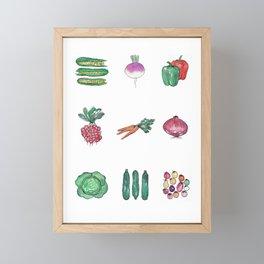 Garden Veggies Framed Mini Art Print