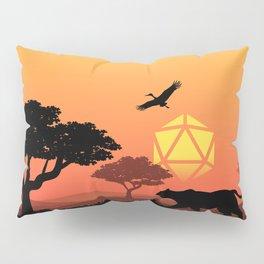 Safari Jungle African Forest D20 Dice Sunset Tabletop RPG Landscape Pillow Sham