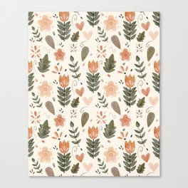 Boho Tulips Canvas Print