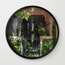 Charleston SC No.2 Hidden Garden on Rainbow Row Wall Clock