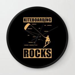 Kitesurfing   Kiteboarding Rocks   Kitesurfer Gift Wall Clock