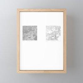 Edinburgh Figure Ground Framed Mini Art Print