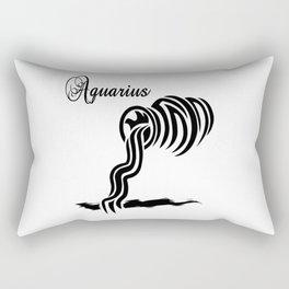 Aquarius Zodiac Water Bearer Rectangular Pillow