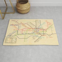 Harry Beck's original Underground map receation for 2020 Rug