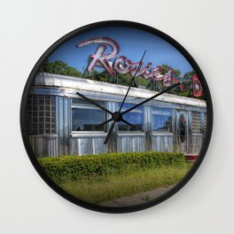 Historic Rosie's Diner by Rockford Michigan Wall Clock