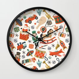 Vintage Christmas Toys Wall Clock