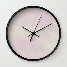 Pastel Cloulds Sky Seamless Nebula 162 Wall Clock