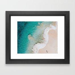 Swirling Tides Framed Art Print
