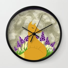 Fox and new rising Wall Clock