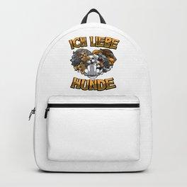 Ich liebe Hunde - Hundebesitzer Statement Backpack