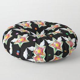 Star Yell Brooch Floor Pillow