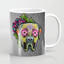Mastiff in Fawn - Day of the Dead Sugar Skull Dog Coffee Mug