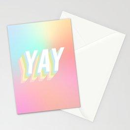 A Big Optimistic YAY! #minimal #positivity Stationery Cards