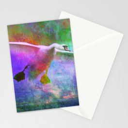 Swan Over a Lake (Disquiet #17) Stationery Cards
