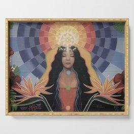 Lightworker // Goddess Woman Feminine Spirit Wemoon Energy Healing Chakra Pele Meditation Serving Tray